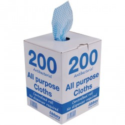 Chiffons tout usage antibactériens bleus Jantex