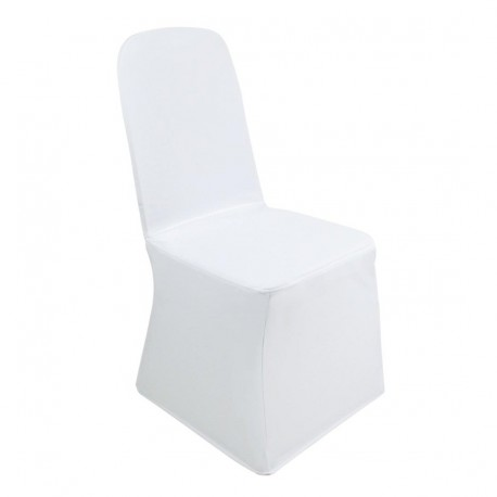 Housse de chaise de banquet blanche Bolero