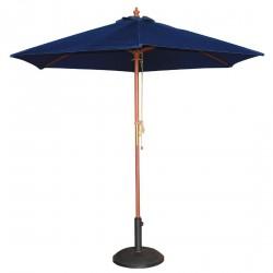 Parasol rond bleu marine Bolero diamètre 2.5m