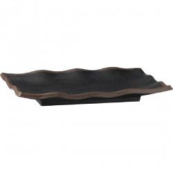 Plat ondulé noir en mélamine Marone APS 275x110mm