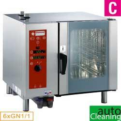 Four électrique vapeur directe et convection, 6x GN 1/1+Cleaning