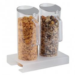 Présentoir de céréales ensemble socle 40mm
