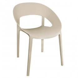4 chaises enveloppantes beige Bolero