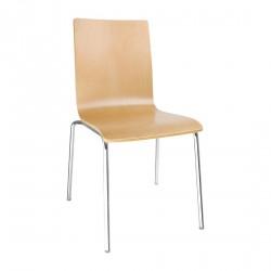 4 chaises dossier carré hêtre naturel Bolero