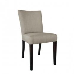 2 chaises contemporaines toile de jute écrue Bolero