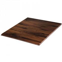 Plateau de table carré chêne antique 700mm Werzalit