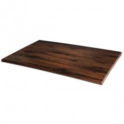 Plateau de table rectangulaire chêne antique 1100x700mm Werzalit