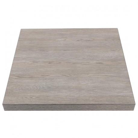 plateau de table carr effet bois gris 600mm bolero. Black Bedroom Furniture Sets. Home Design Ideas