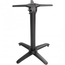 Pied de table basculant aluminium noir Bolero