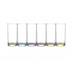 6 verres longdrink 27.5cl Liberty Coral