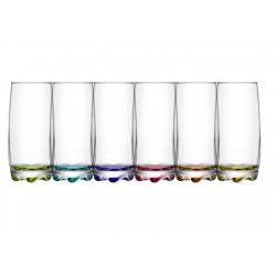6 verres longdrink 37cl Adora