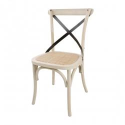 2 chaises en chêne avec dossier croisé Sable Bolero
