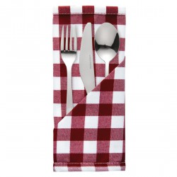 10 serviettes à carreaux rouges Mitre Comfort Gingham