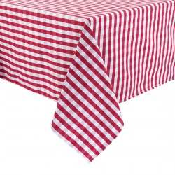 Nappe carrée à carreaux rouges Mitre Comfort Gingham
