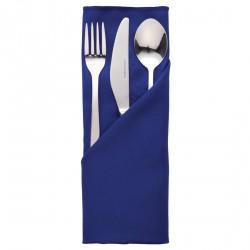 10 serviettes bleues en polyester Roslin Mitre