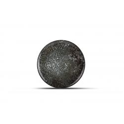 Assiette plate noire COSMOS 21 CM