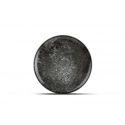 Assiette plate noire CR 27 cm Cosmos