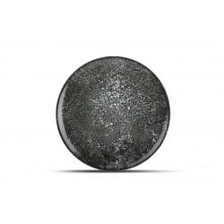 Assiette plate noir CR 30 cm Cosmos
