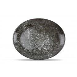 Assiette Ovale 36 x 28 cm Noire COSMOS