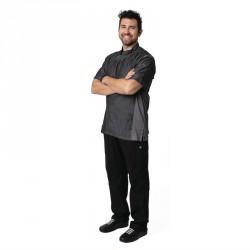 Veste de cuisine mixte denim manches courtes Chef Works Urban Delancey