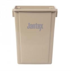 Conteneur de recyclage beige 56L Jantex