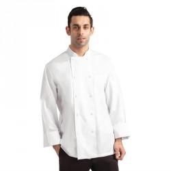 Veste de cuisine mixte blanche à manches longues Chef Works Calgary Cool Vent