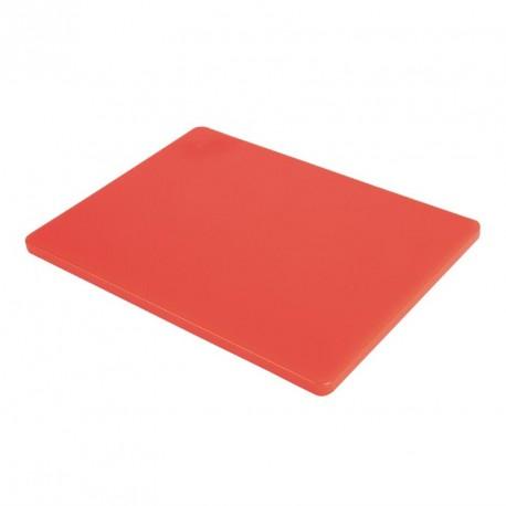 Planche à découper basse densité rouge Hygiplas
