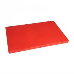 Planche à découper épaisse basse densité rouge Hygiplas