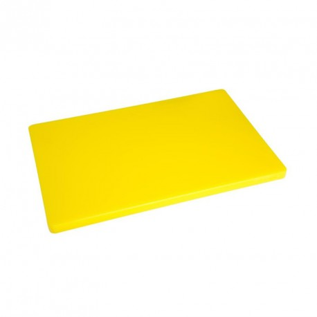 Planche à découper épaisse basse densité jaune Hygiplas