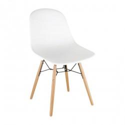 2 chaises blanche moulées Arlo Bolero blanche