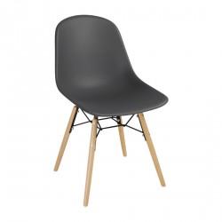2 chaises moulées grise Arlo Bolero
