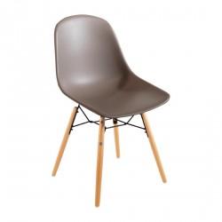 2 chaises moulées café Arlo Bolero