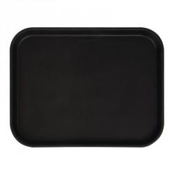 Plateau rectangulaire antidérapant noir Camtread Cambro