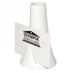 Vase bouteille avec encoche pour carte blanc Olympia