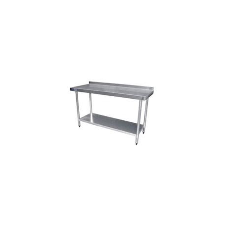 table de travail 60cm avec rebord inox pour cuisine horeca pro. Black Bedroom Furniture Sets. Home Design Ideas