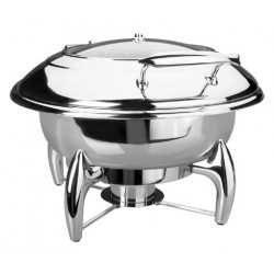 Chafing Dish de luxe rond 6 ltrs