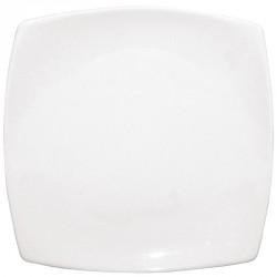 Assiettes carrées bords arrondis blanches 240mm Olympia