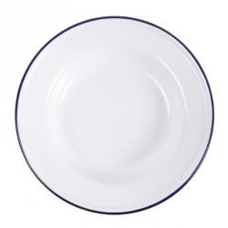 Assiette creuse en acier émaillé Olympia 245mm lot de 6