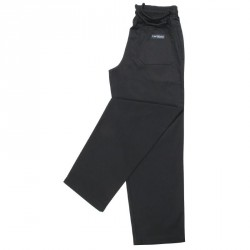Pantalon noir Easyfit Chef Works S