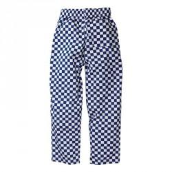 Pantalons Easyfit - Gros carreaux bleus et blancs