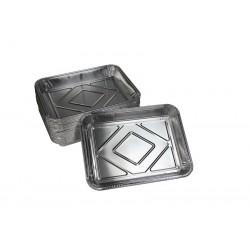 500 Plats aluminium 19 x 25 cm - Haut 3 cm