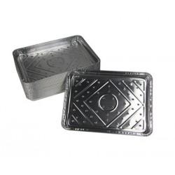 500 Plats aluminium pérforé 18 x 25 cm - Haut 2 cm