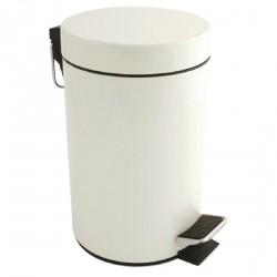 Poubelle 3 litres à pédale blanche
