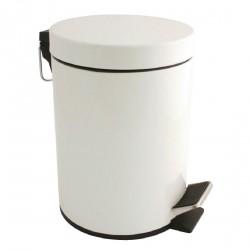 Poubelle 5 litres à pédale blanche