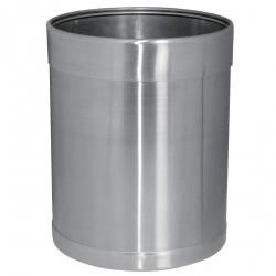 Corbeille 10,2 litres inox