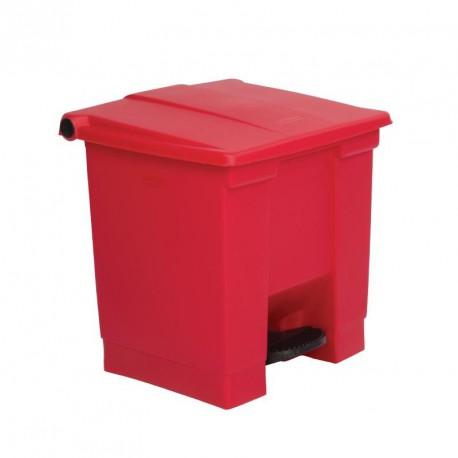 Conteneur à déchets Rubbermaid rouge 30.5Ltr