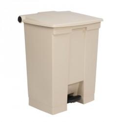 Conteneur à déchets Rubbermaid beige 68Ltr