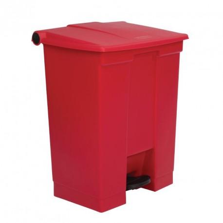 Conteneur à déchets Rubbermaid rouge 68Ltr