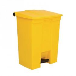 Conteneur à déchets Rubbermaid jaune 68Ltr