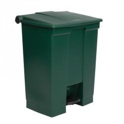 Conteneur à pédale Rubbermaid vert 68L